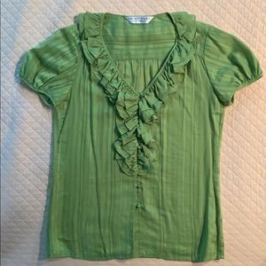 Trina Turk green blouse
